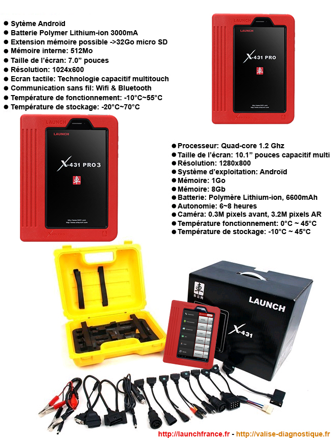 Diagnostic Launch X431 MASTER V+ français